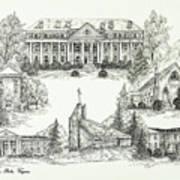 Roanoke College Art Print