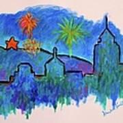 Roanoke In Blue Art Print
