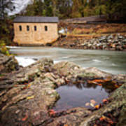 Roanoke River Niagra Rd Dam Art Print