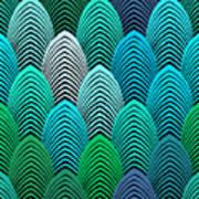 Roaring 20's Turquoise Art Print