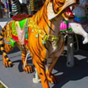 Roaring Tiger Ride Art Print