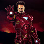 Robert Downey Jr. As Iron Man  Art Print