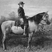 Robert E Lee On His Horse Traveler Art Print