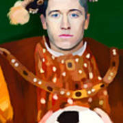 Robert Lewandowski As King Of Soccer Art Print