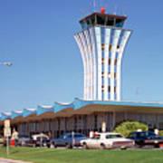 Robert Mueller Municipal Airport And Control Tower, Austin, Texas Art Print