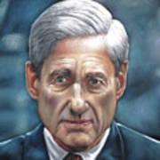 Robert Mueller Portrait , Head Of The Special Counsel Investigation Art Print
