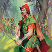 Robin Hood Art Print by James Edwin McConnell