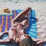 Robin At The Beach Art Print