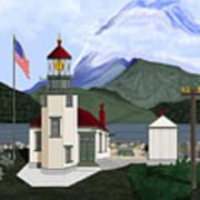 Robinson Point With Mount Rainier Art Print