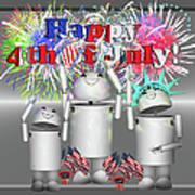 Robo-x9 Celebrates Freedom Art Print