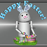 Robo-x9 The Easter Bunny Art Print