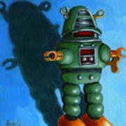 Robot Dream - Realism Still Life Painting Art Print by Linda Apple