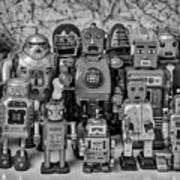 Robot Family Art Print