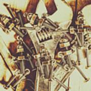 Robotic Repairs Art Print