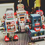 Robots Of Retro Cool Art Print