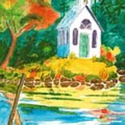 Roche Harbor Chapel Art Print