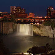 Rochester Falls At Dusk Art Print