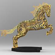Rocinante Bronze Sculpture Art Print