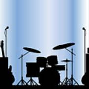 Rock Band Equipment Art Print