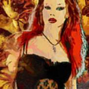 Rock Diva Art Print