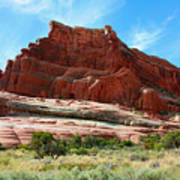 Rock Formation Of La Sal Mountains Art Print