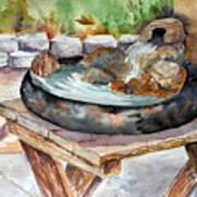 Rock Fountain Art Print