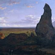 Rock In Montserrat Art Print