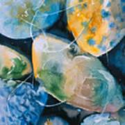 Rock In Water Art Print