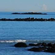 Rock Ledges And Calm Seas Art Print