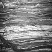 Rock Lines B W Art Print