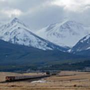 Rock Mountain Front- Train Art Print