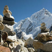 Rock Piles In The Himalayas Art Print