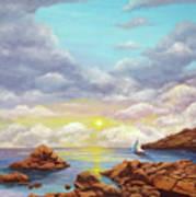 Rock Pools, Seascape Art Print