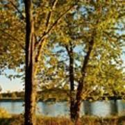Rock River In October Art Print
