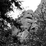 Rock Spirits At Yosemite B And W Art Print