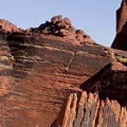 Rock Texture And Lichen Art Print