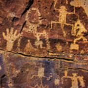 Rock Wall Of Petroglyphs Art Print