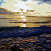 Rockaway Sunset #3 Enhanced #2 Art Print