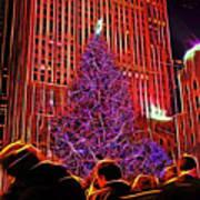 Rockefeller Center Christmas Tree Art Print