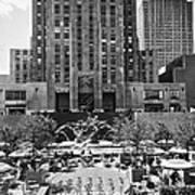 Rockefeller Center Plaza Art Print
