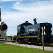 Rocket Locomotive At Cape Canaveral In Florida Art Print