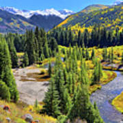 Rockies And Aspens - Colorful Colorado - Telluride Art Print