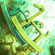 Rocking Horse Metal Toy Art Print