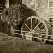 Rockland Grist Mill - Sepia Art Print