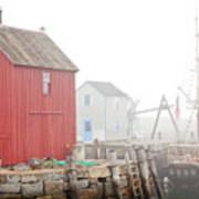 Rockport Fog Art Print