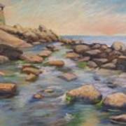 Rockport Harbour Art Print