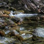 Rocks And Little Water Art Print