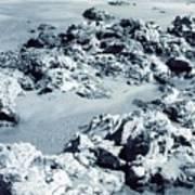 Rocks At Shoreline Art Print