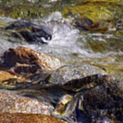 Rocks In A Stream 2a Art Print