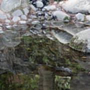 Rocks In Reflection Art Print
